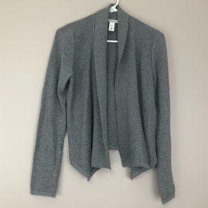 White House Black Market XS grey open cardigan EUC